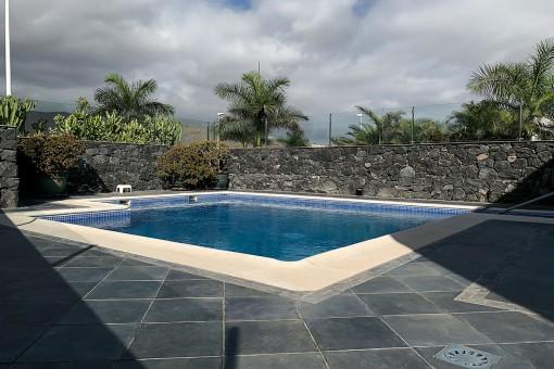 Spacious pool of the villa