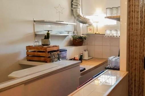 Vista a la cocina