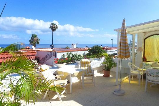 Casa con amplias terrazas y vistas al mar de la costa norte de Tenerife