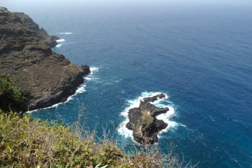 La vista al Roque de la Playa y la costa