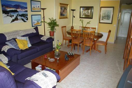 Espaciosa sala de estar