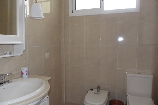 El moderno cuarto de baño