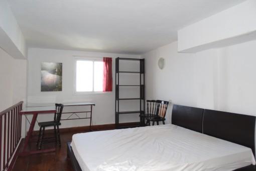 Zona de dormitorio moderna arriba