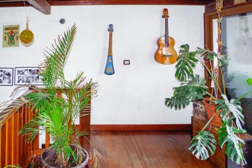 Galería con acceso a la terraza