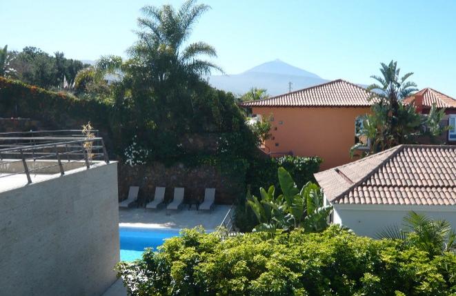 Terraza con preciosas vistas al Teide