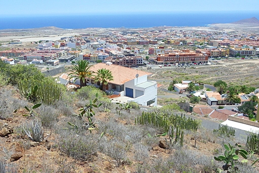 El terreno más alto por encima de la costa atlántica con la Montaña Roja