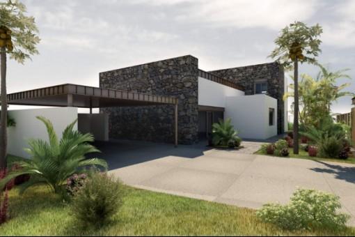 La propiedad alrededor de la villa